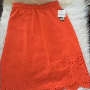 Liz Claiborne vibrant orange laser skirt!!!